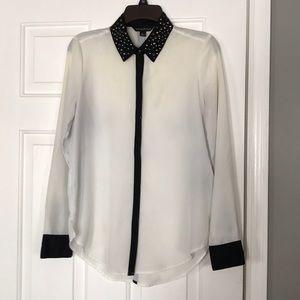 Rock & Republic white and black blouse
